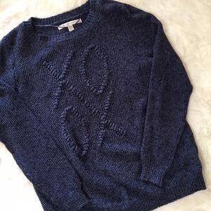 LC Lauren Conrad Blue Knit XO XO Sweater